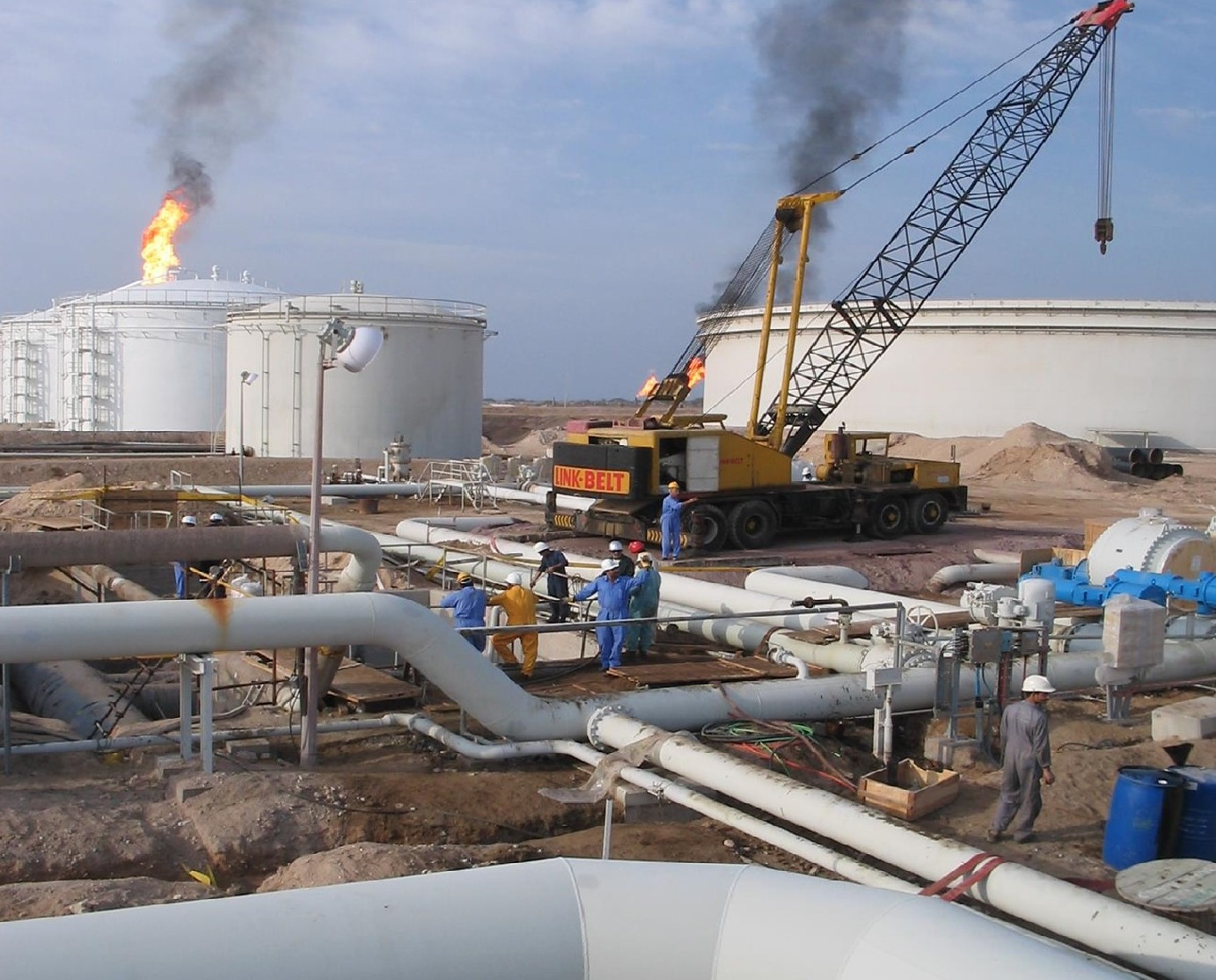 Crude Oil Processing and storage Plant